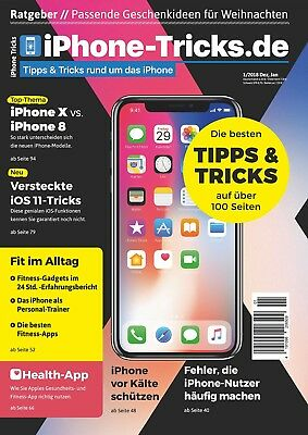 iPhone-Tricks.de Magazin 1/2018: iPhone X vs. iPhone 8, iOS 11, Apple Watch 3