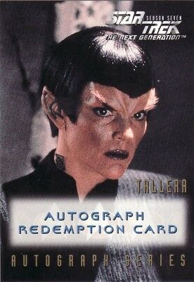 Star Trek TNG Season 7 Robin Curtis Unreleased Redemption Card