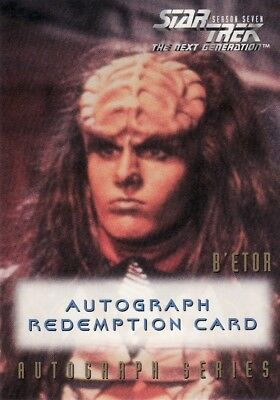 Star Trek TNG Season 7 Gwynneth Walsh Unreleased Redemption Card