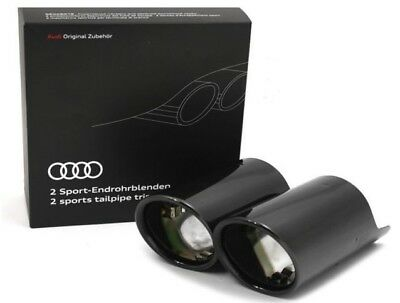 Genuine Audi Q2 Black Chrome Plated Double Exhaust Trims