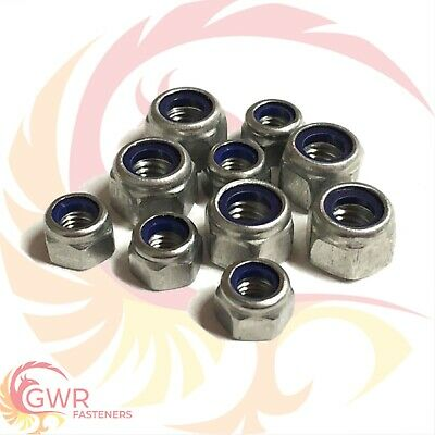 M5 M6 P Type Nyloc Insert Nuts - A2 Stainless - Nylock DIN 982 Lock Nut - Nylon