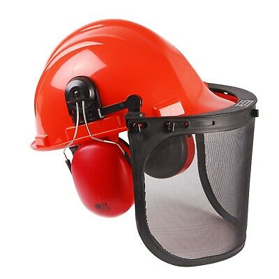 Chainsaw Safety Helmet, Mesh Visor And Ear Muffs For Mcculloch Users