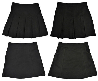Girls Black School Skirts 3years up to 10 years Various Styles Great Price