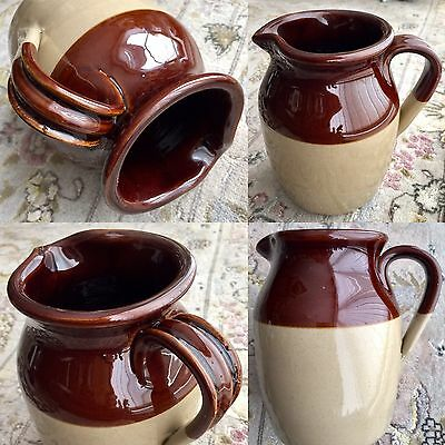 "Rare Antique Heavy Price & Powell English Stoneware 8""/20cm Pitcher / Jug"