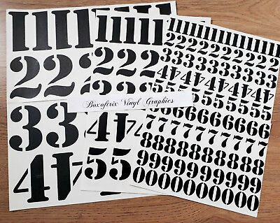 """1"""" 25mm, 2"""" 50mm, 3"""" 75mm SELF ADHESIVE VINYL STENCIL NUMBERS STICKERS DECALS"""