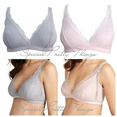 Maternity Bra Mothercare Blooming Marvellous Pink Grey Non-Wired Lace M L £15