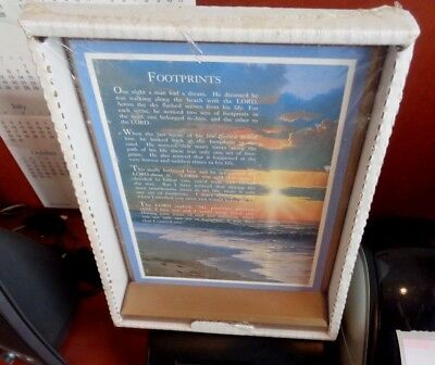 New Stand Up Footprints In The Sand Plaque Tabletop Treasure Gift Collection