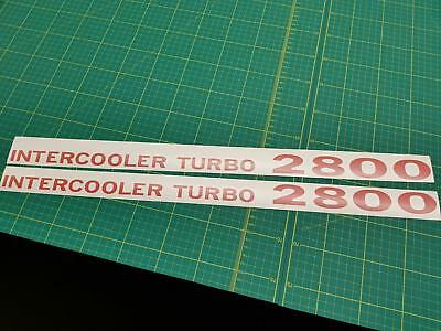 Mitsubishi Pajero Shogun Intercooler Turbo 2800 decals stickers resto V20 MK2 NJ
