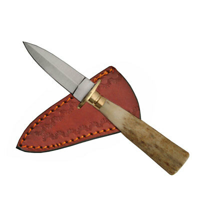 """NEW IN BOX Stag Mini Athame 5.25"""" Boot Dagger Steel Knife w/ Antler Handle"""