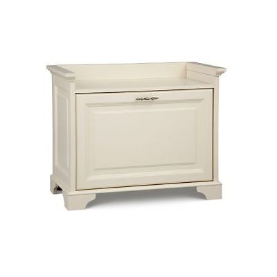 Wood Fold Out Shoe Storage Bench Seat Bedroom Entry E Indoor White