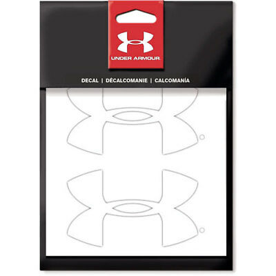 "Under Armour Ude2102  4"" 2-Pack Ua Logo White Decal"