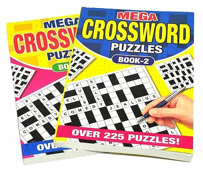 1x A5 Crossword Puzzle Book Books 262 Powerful Puzzles A5 Pages Trivia