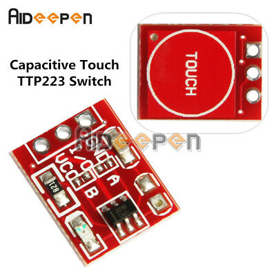 5PCS Red TTP223 Capacitive Touch Switch Button Self-Lock Module for Arduino