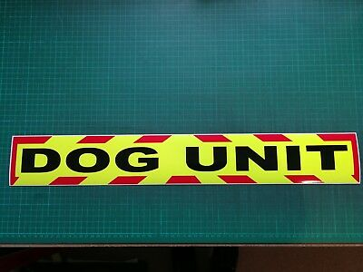 DOG UNIT K9 MAGNET MAGNETIC SECURITY HANDLER SIA PATROL CHEVRON DAYGLO 620mm