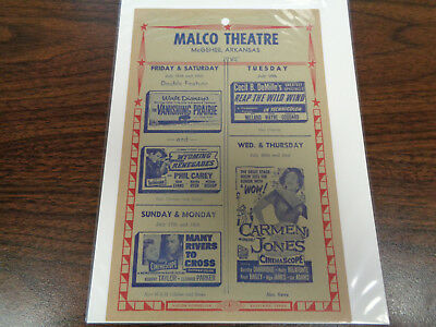 Malco Theatre Vintage Movie Ad Mcghee Arkansas Reap The Wild Wind  John Wayne