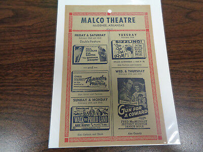 Malco Theatre Vintage Movie Ad Mcghee Arkansas The Gamma People