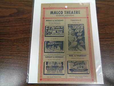 Malco Theatre Vintage Movie Ad Mcghee Arkansas Invasion Of The Body Snatchers