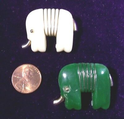 **RARE*  PAIR OF BAKELITE ELEPHANT PINS**EXCELLENT CONDITION** 1930's