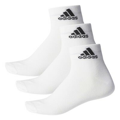 Boys Girls Kids Infants Junior 3 PACK ADIDAS Ankle Sports Socks Pairs - White