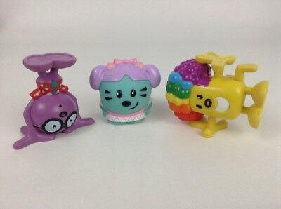 LOT (3) Mattel Wow Wow Wubbzy Toy Figures/ Cake Toppers Wubbzy Walden Daisy