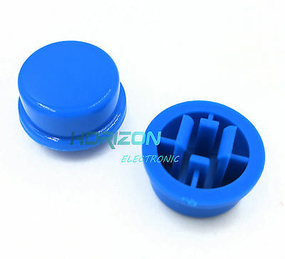 NEW 1000pcs Black Round Tactile Button Caps For 12×12×7.3mm Tact Switches