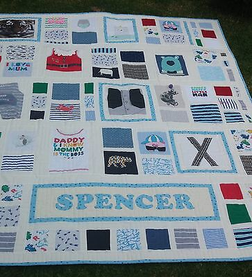Memory quilt - handmade quilt from baby clothes - made to order OOAK heirloom