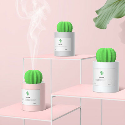 USB Cool Mist Humidifier Mini Size Cactus 280ml Air Diffuser Portable Home Decor