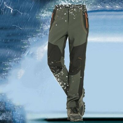 AU Men Women Outdoor Hiking Windproof Camping Climbing MTB Sports Pants S-XXXL