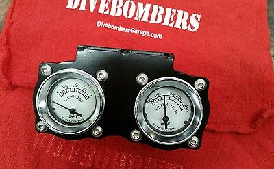 2 1/16 Gauge Panel Bomber style Custom duel  gauge Gasser Hot Rod Bezel rat rod