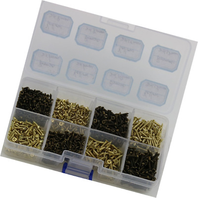 Small Wood Phillips Flat Head Kit 1/5 Inch- 1/2 Inch Pack of 1600 Screws