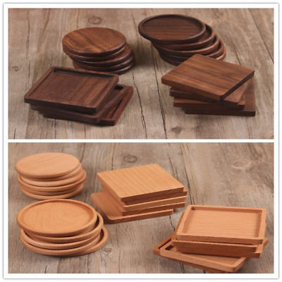 Heat Insulation Wooden Tea Coasters Cup Holder Mat Pads Coffee Drinks Placemat