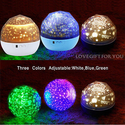 Romantic LED Starry Night Sky Galaxy Projector Lamp Star Light Cosmos Gift  New