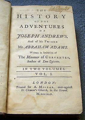 The History of the Adventures of Joseph Andrews - Published 1742