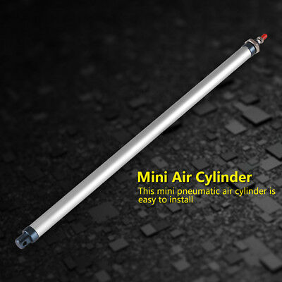 Aluminum Alloy 16mm x 400mm Single Rod Double Acting Mini Pneumatic Air Cylinder