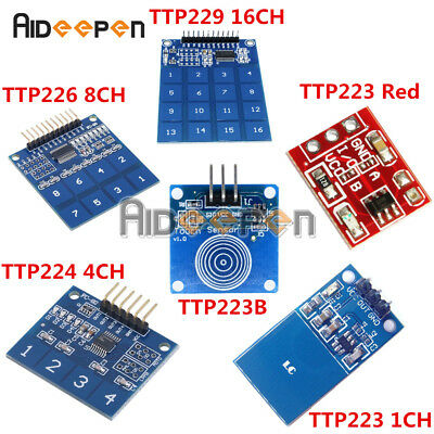 TTP223/224/226/229 1/4/8/16 CH Capacitive Touch Sensor Switch Module for Arduino
