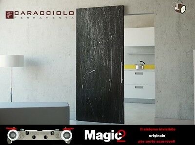 Binario Per Porta Scorrevole A Scomparsa In Legno Magic2 1100 Terno Scorrevoli