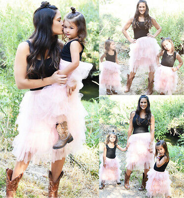 AU Stock Family Clothes Mother Daughter Matching Baby Kids Girl Tops Tutu Skirts