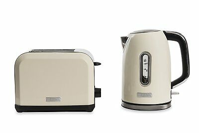 Haden Chiswick Kettle 1.7L & 2 Slice Toaster Set Cream  2 Year Guarantee