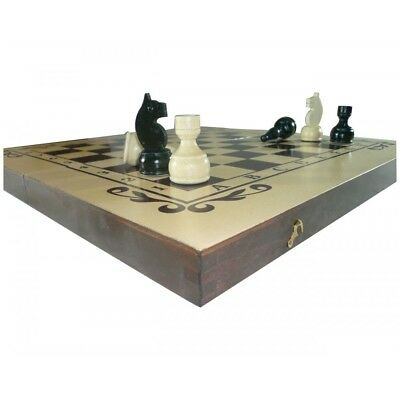 2 in1 Hand Made Wooden Chess set and Backgammon 34/34 cm.