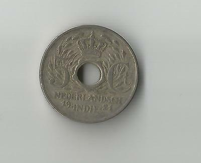 D#3 Netherlands Dutch East Indies 1921 5 Cents coin with centre hole