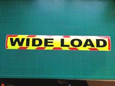 WIDE LOAD MAGNET MAGNETIC Lorry Truck Trailer long CHEVRON Towing Volvo DAF x 1