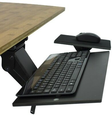 KT1 ergonomic under-desk computer keyboard tray adjustable height angle swivel