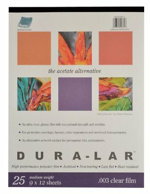 Grafix Clear .003 Dura-Lar Film 9-Inch by 12-Inch 25 Sheets
