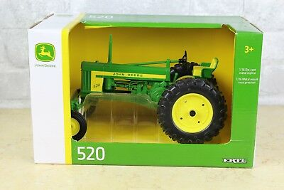 New Ertl 520 John Deere Die Cast Metal Farm Tractor 1/16 Scale NIB