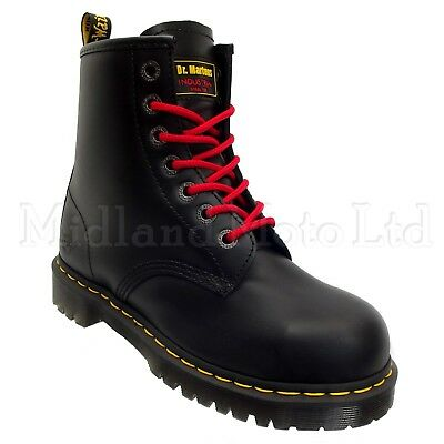 4835bb32b Dr. Martens Icon AirWair Steel Toe Cap Safety Boots 7B10 DMs With Red Laces