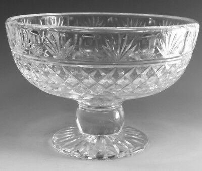 "STUART Crystal - MONTROSE Cut - Large Footed Fruit Bowl - 5 1/2"" (1st)"
