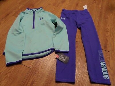 8b49489bbb UA Under Armour Girls Track Suit 2 Piece Set Jacket Pants Sz 6 NWT  blue-purple