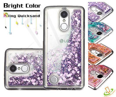 COOLPAD Revvl Plus Bling Hybrid Liquid Glitter Rubber Protective TPU Case Cover