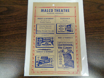 Malco Theatre Vintage Movie Ad Mcghee Arkansas Alexander The Great