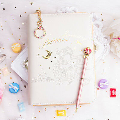 Sailor Moon Princess Serenity A6 Notebook Diary Planner Schedule Book Loose-leaf